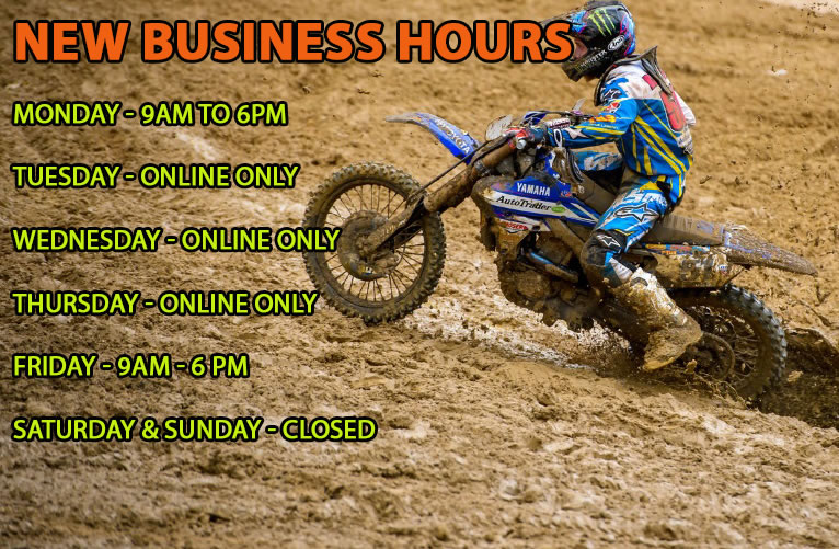 Just Dirt Bikes Opening Hours